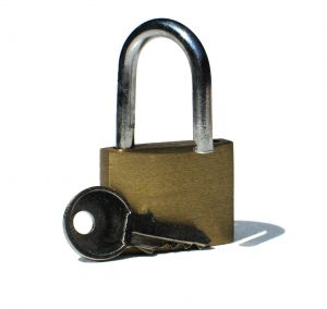 Picture of lock and key.